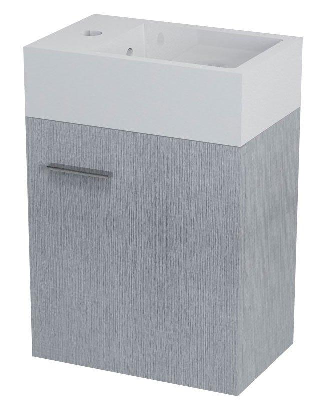 SAPHO LATUS V umyvadlová skříňka 36x40x23cm, dub stříbrný LT510