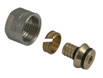 Svěrné šroubení M 24 na plastové potrubí 18 x 2