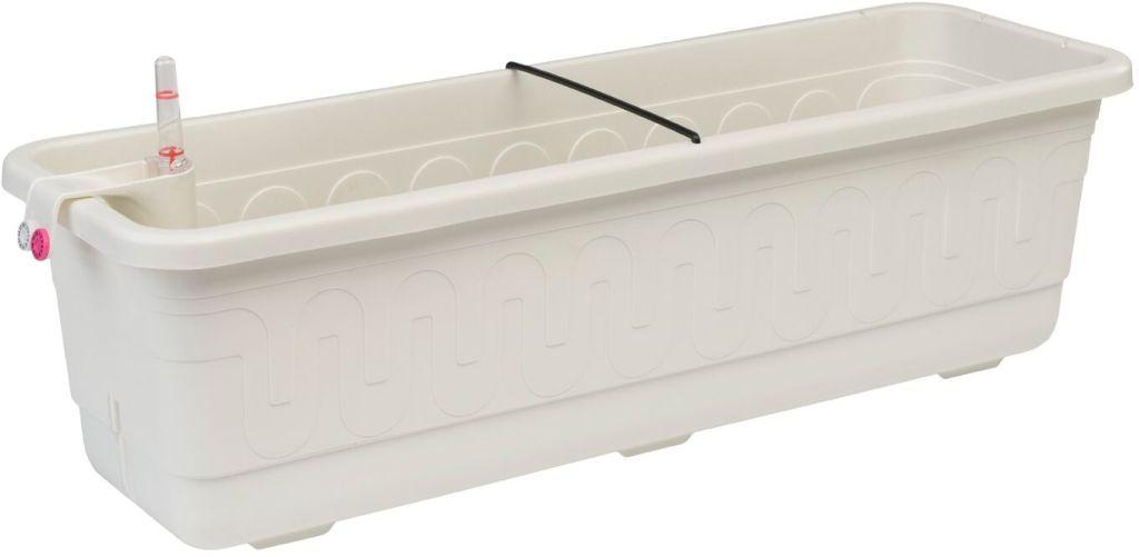 PLASTKON Samozavlažovací truhlík Smart Systém Fantazie 40 cm bílá