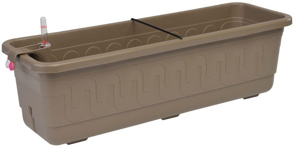 PLASTKON Samozavlažovací truhlík Smart Systém Fantazie 40 cm taupe