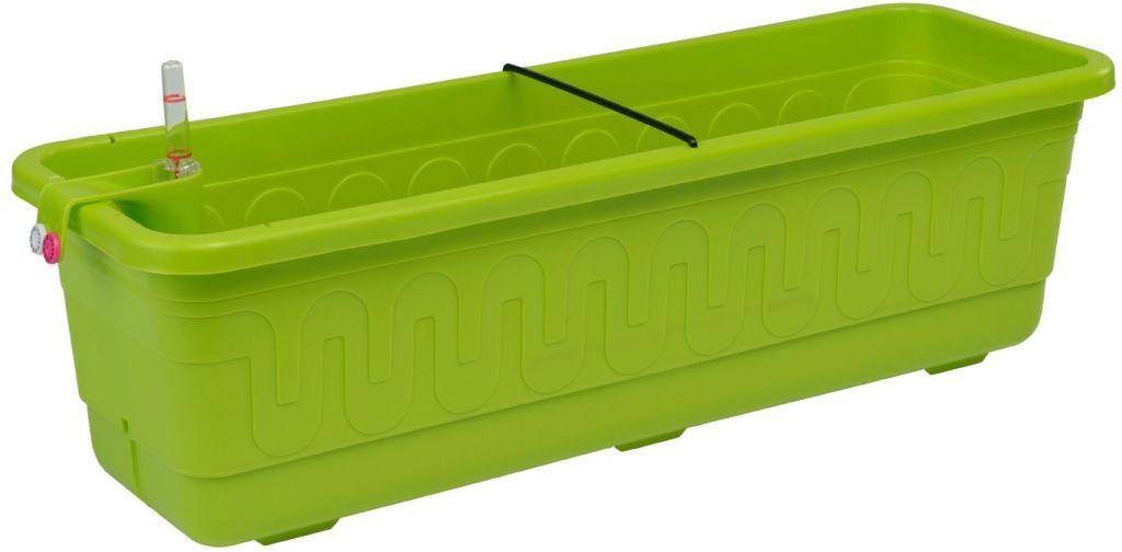 PLASTKON Samozavlažovací truhlík Smart Systém Fantazie 40 cm hráškově zelená
