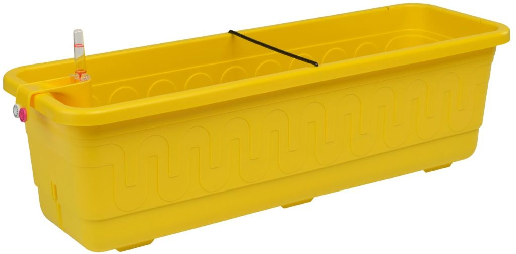 PLASTKON Samozavlažovací truhlík Smart Systém Fantazie 40 cm žlutá