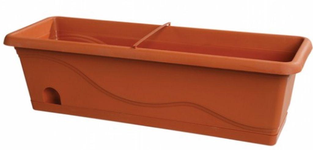 PLASTKON Samozavlažovací truhlík Titanic 50 cm terakota