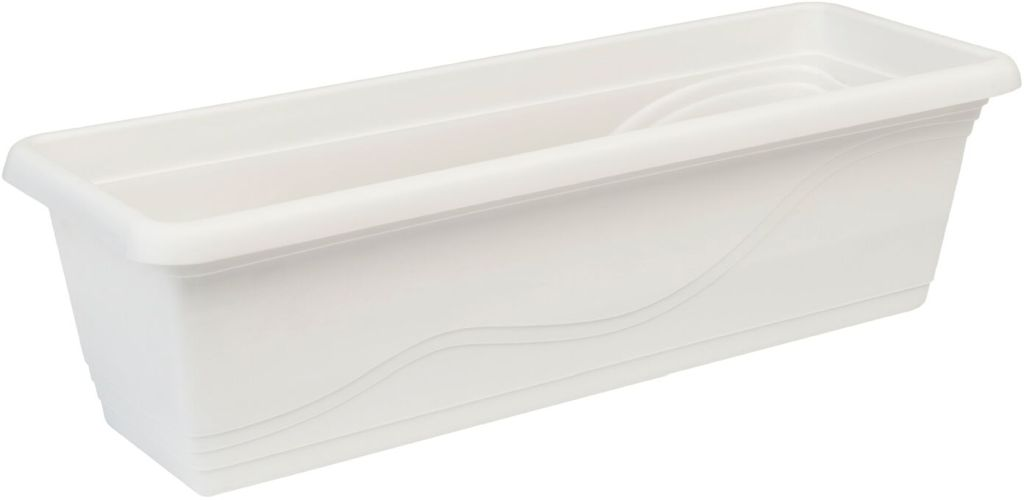 PLASTKON Truhlík Extra Flor 60 cm bílá