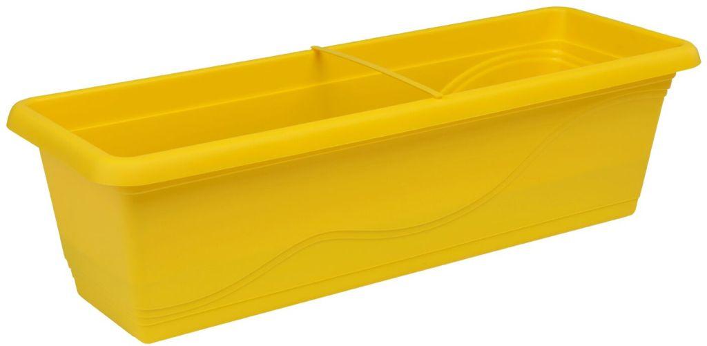 PLASTKON Samozavlažovací truhlík Smart Systém Extra Line 50 cm žlutá