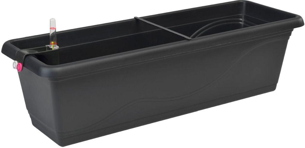 PLASTKON Samozavlažovací truhlík Smart Systém Extra Line 50 cm antracit