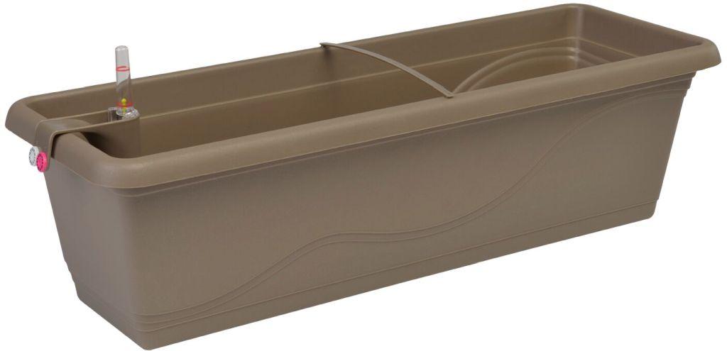 PLASTKON Samozavlažovací truhlík Smart Systém Extra Line 50 cm taupe