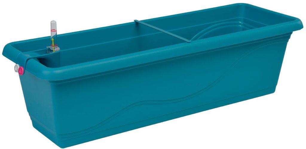 PLASTKON Samozavlažovací truhlík Smart Systém Extra Line 50 cm tyrkys