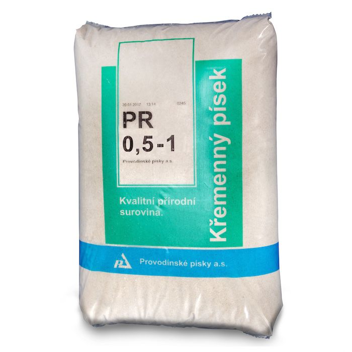 Filtrační písek 25 kg PR 0,6 - 1,2