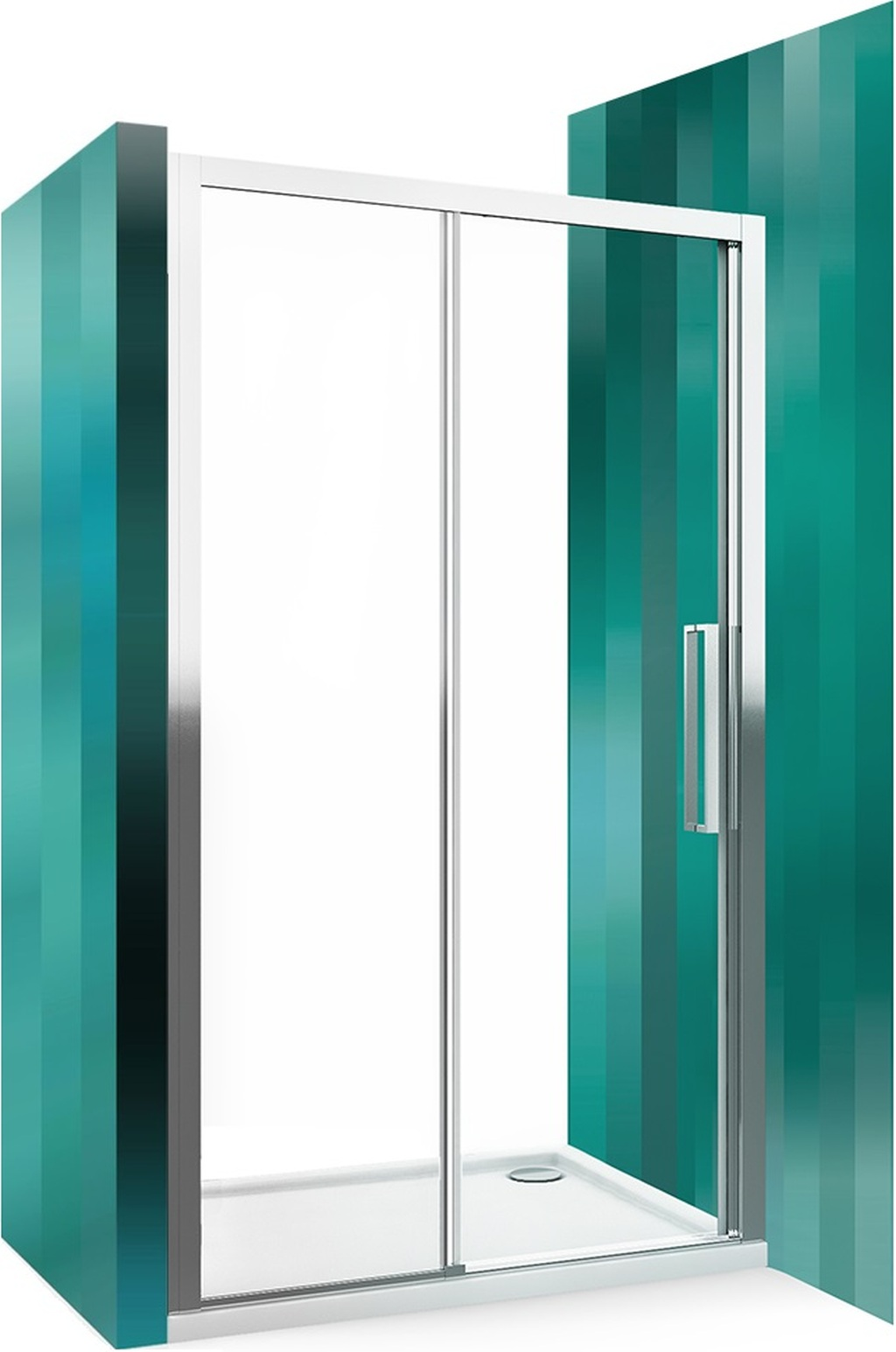 ROLTECHNIK Sprchové dveře posuvné pro instalaci do niky ECD2L/1200 brillant/transparent 564-120000L-00-02