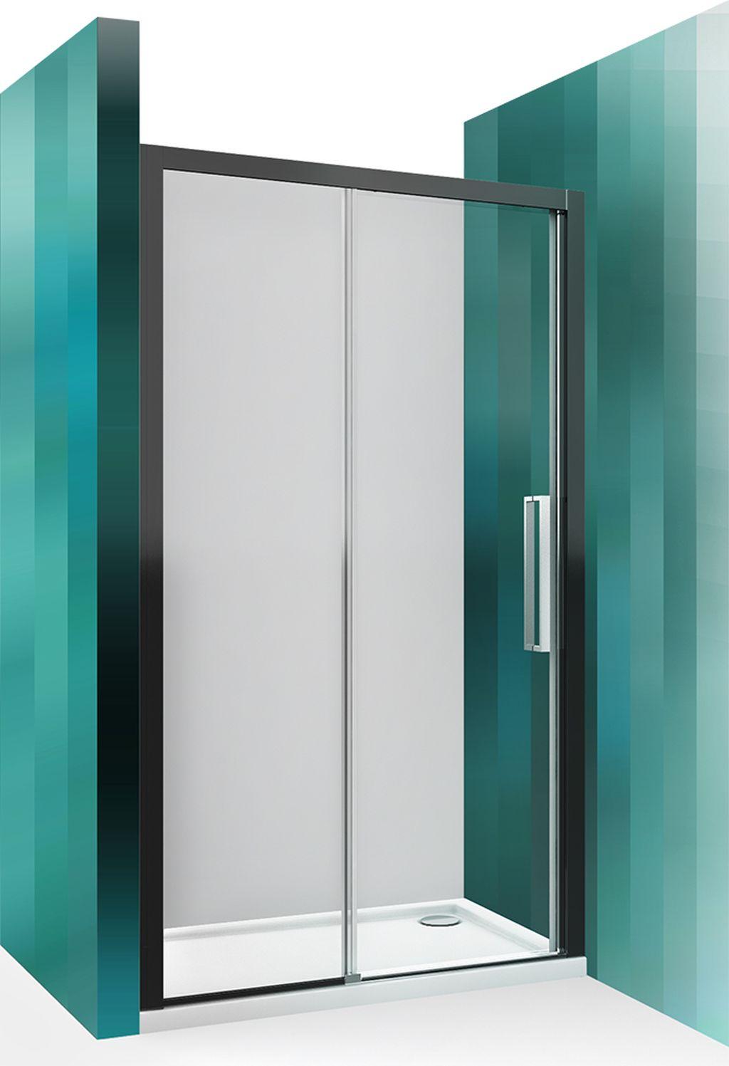 ROLTECHNIK Sprchové dveře posuvné pro instalaci do niky ECD2L/1200 černý elox/transparent 564-120000L-05-02