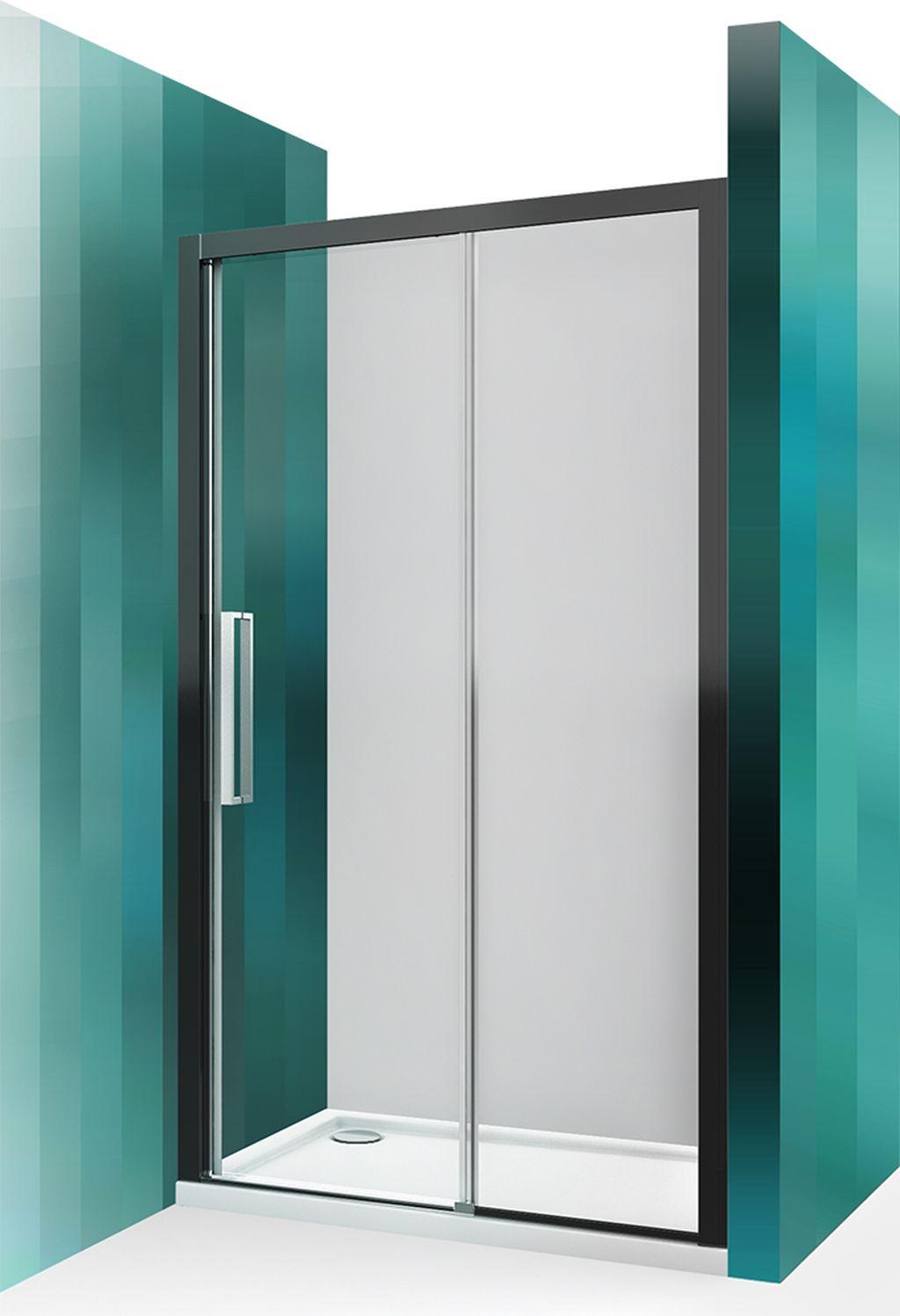 ROLTECHNIK Sprchové dveře posuvné pro instalaci do niky ECD2P/1400 černý elox/transparent 565-140000P-05-02
