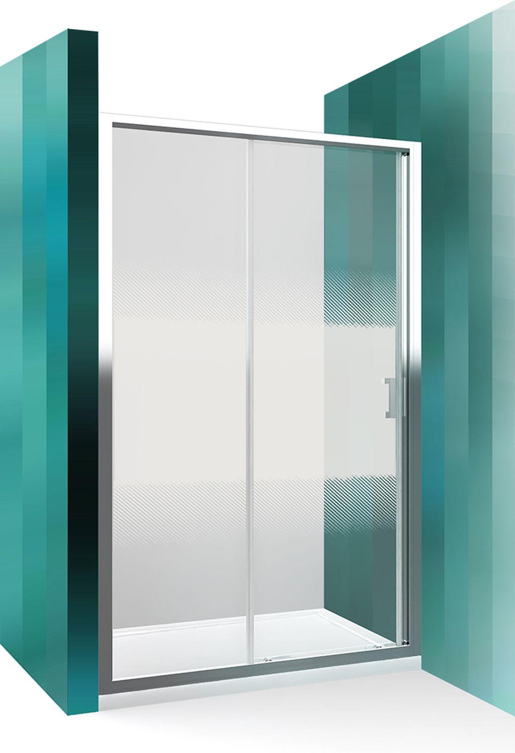ROLTECHNIK Sprchové dveře posuvné pro instalaci do niky LLD2/1000 brillant/intimglass 556-1000000-00-21