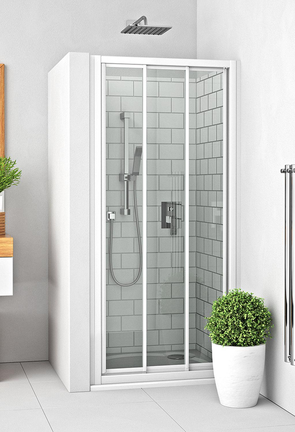 ROLTECHNIK Sprchové dveře posuvné s oboustranným vstupem pro instalaci do niky PD3N/1000 bílá/transparent 413-1000000-04-02