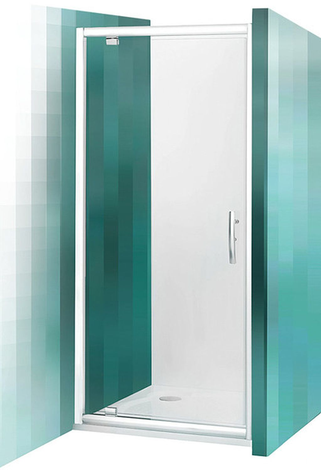 ROLTECHNIK Sprchové dveře jednokřídlé PXDO1N/1000 brillant/transparent 525-1000000-00-02