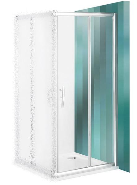 ROLTECHNIK Sprchové dveře posuvné PXS2P/1000 brillant/transparent 538-1000000-00-02