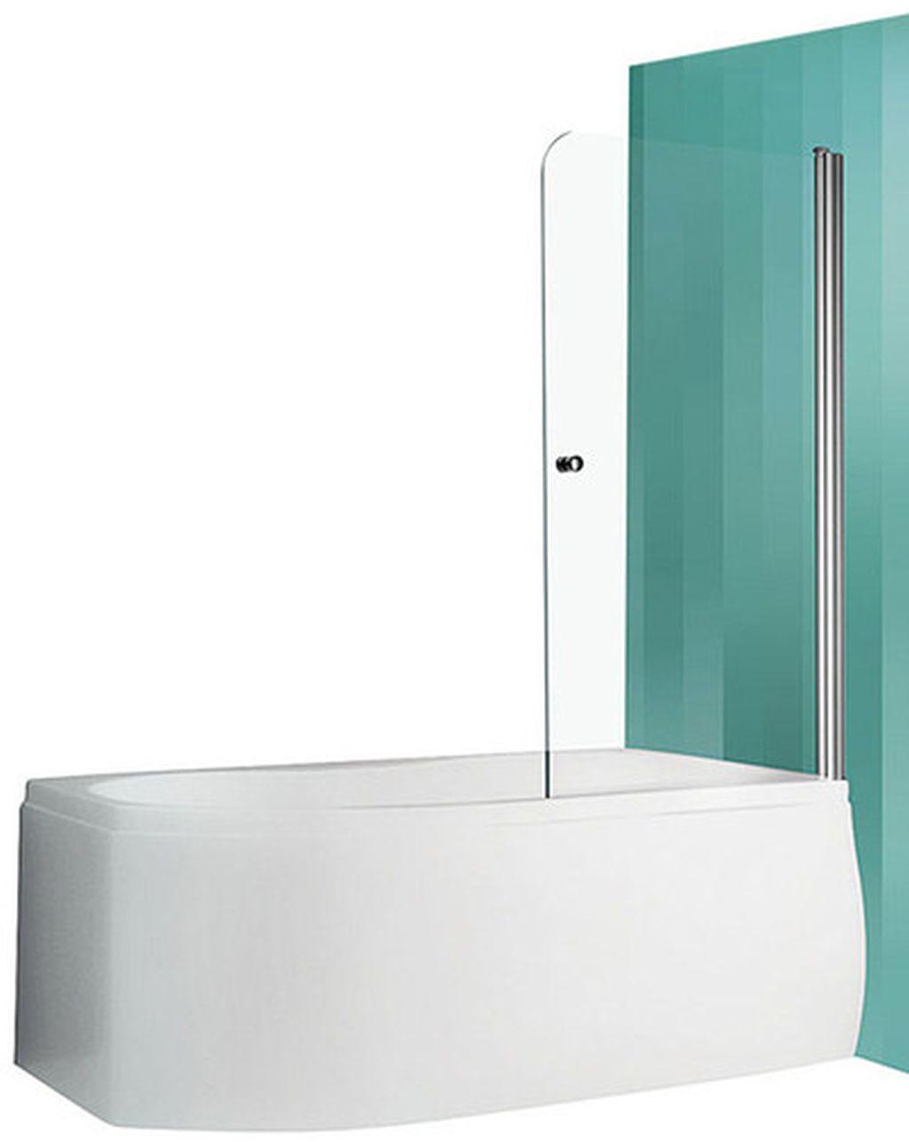 ROLTECHNIK Vanová zástěna oboustranně otevíratelná TV1/700 stříbro/transparent 706-7000000-01-02