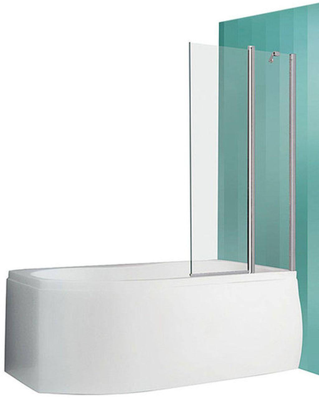ROLTECHNIK Vanová zástěna oboustranně otevíratelná s pevnou částí TV2 brillant/transparent 732-9700000-00-02