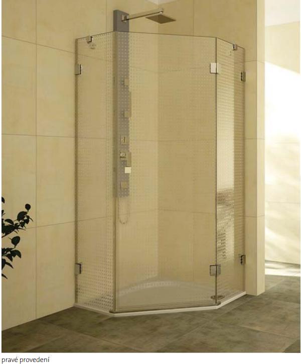 TEIKO NSKPU 1/90 L sprchový kout pětiúhelníkový levý, čiré sklo V333090L52T61003