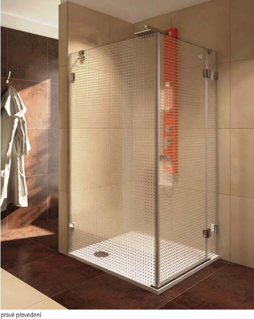 TEIKO NSKDS 1/90 L sprchový kout (dveře + stěna) levý, čiré sklo V333090L52T11003