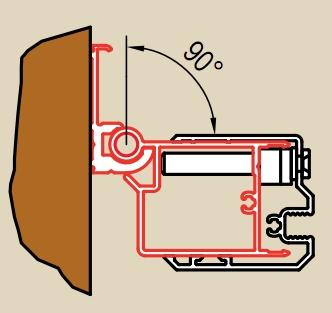 RONAL profil k upevněné dveří na straně madla nebo boční stěny, barva* WGSL1SF1948