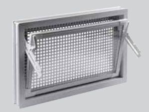 ACO Markant víceúčelové plastové okno s mřížkou proti hlodavcům 80 x 60 cm hnědé F2106