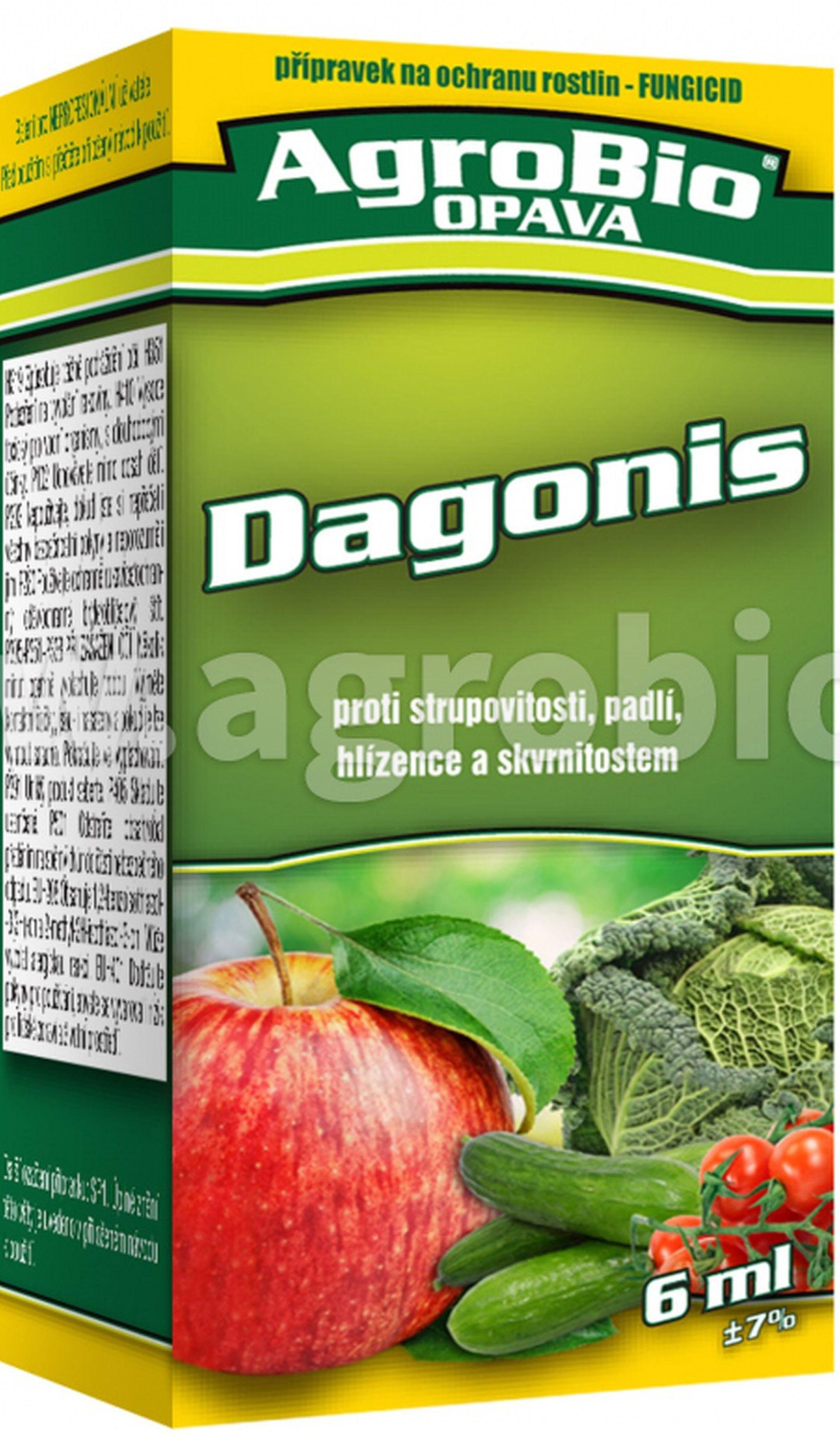 AgroBio DAGONIS Fungicidní přípravek k ochraně ovoce a zeleniny, 6ml 003293