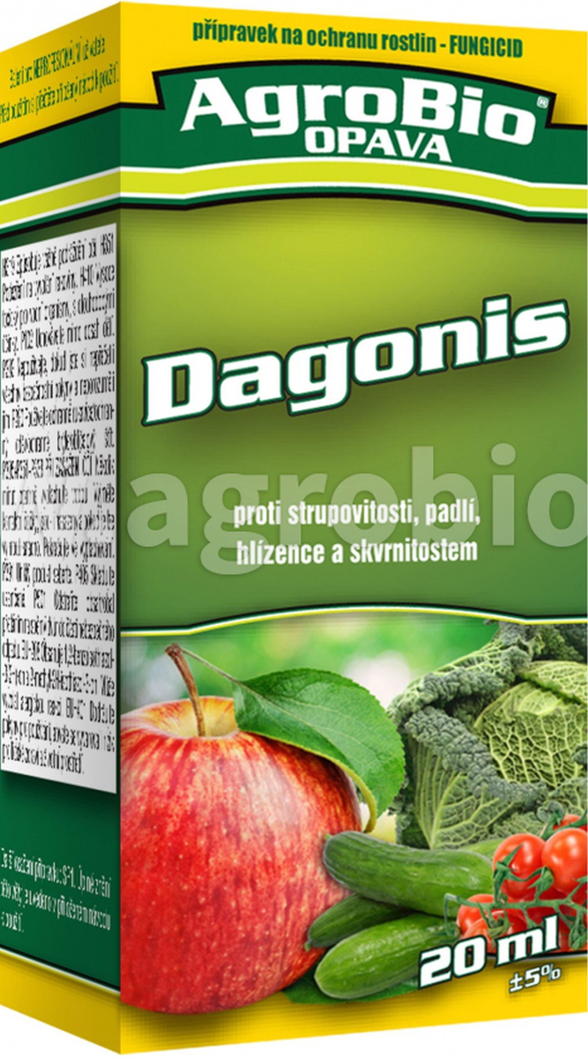 AgroBio DAGONIS Fungicidní přípravek k ochraně ovoce a zeleniny, 20ml 003294
