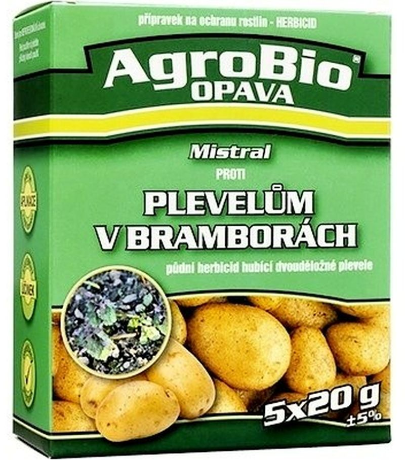 AgroBio MISTRAL proti plevelům v bramborách 5x20 g