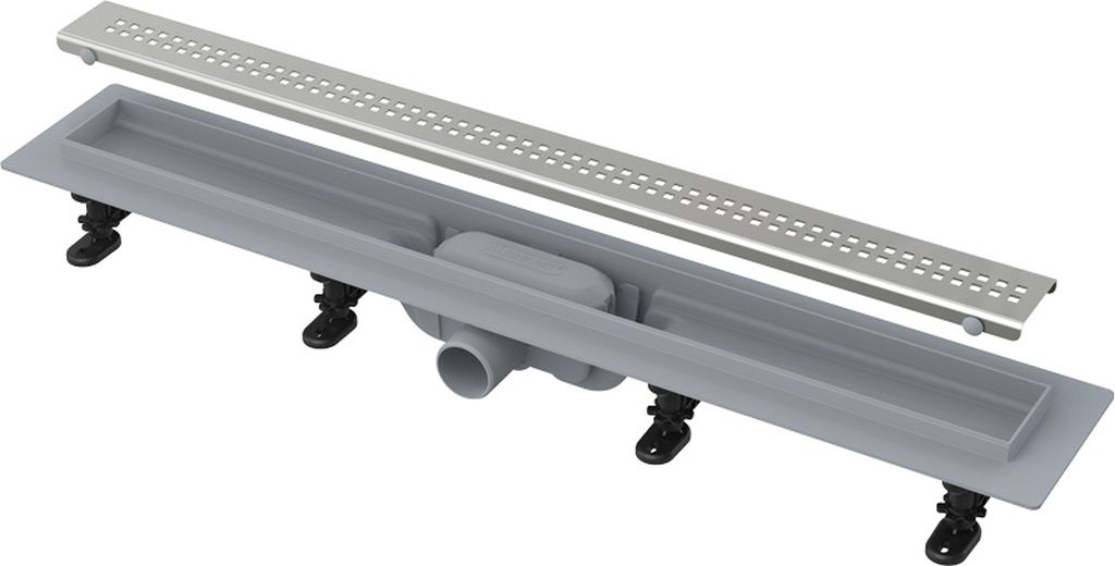 ALCAPLAST Simple Podlahový žlab s okrajem pro perforovaný rošt APZ9-750M