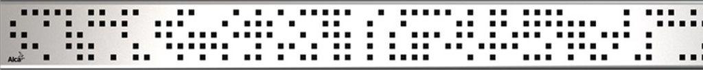 ALCAPLAST CODE Rošt pro liniový podlahový žlab 750mm, nerez-mat CODE-750M