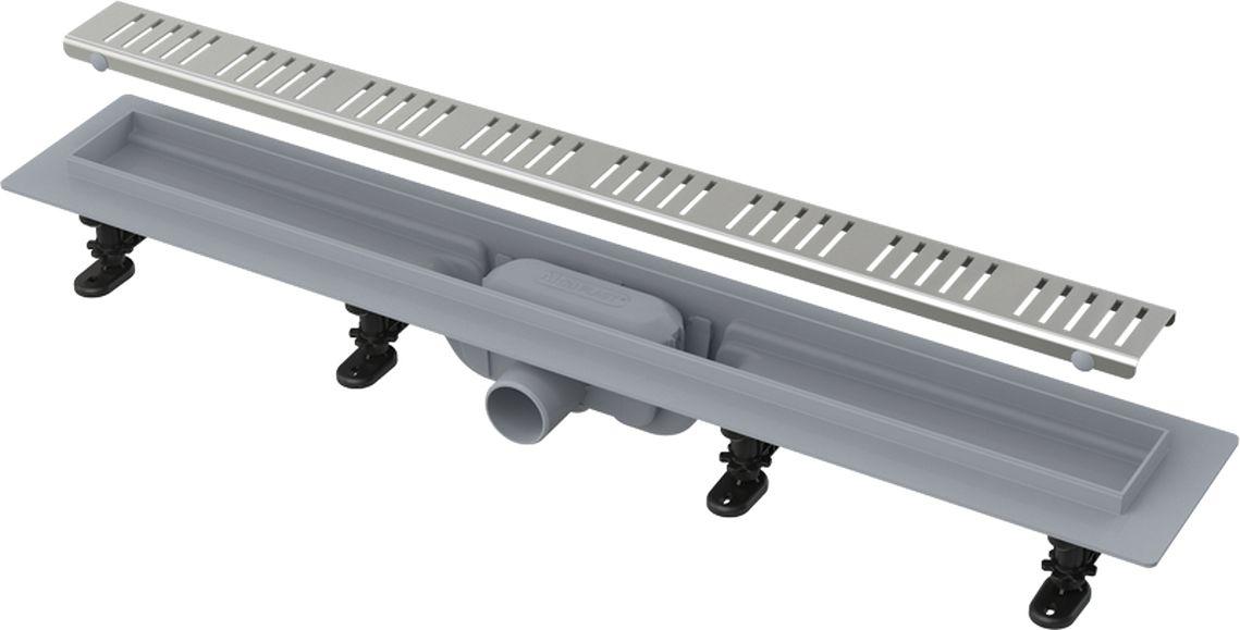 ALCAPLAST Simple Podlahový žlab s okrajem pro perforovaný rošt APZ10-750M