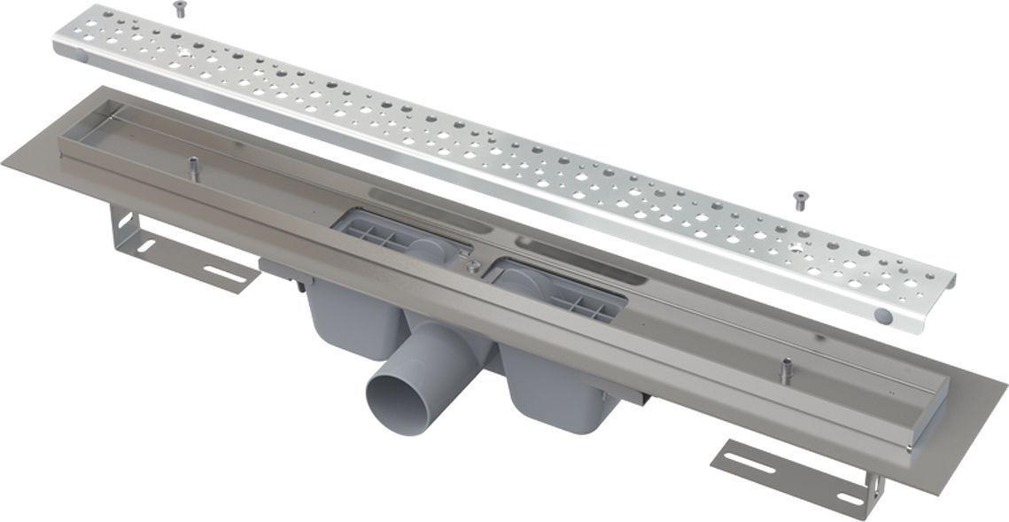 ALCAPLAST Antivandal podlahový žlab 750 mm s roštem, mat APZ11-750M
