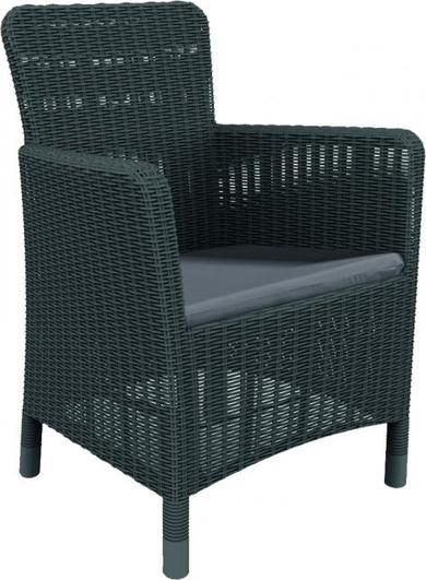 ALLIBERT TRENTON zahradní židle, grafit 17202798