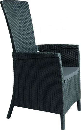 ALLIBERT VERMONT zahradní židle polohovací, grafit 17201675