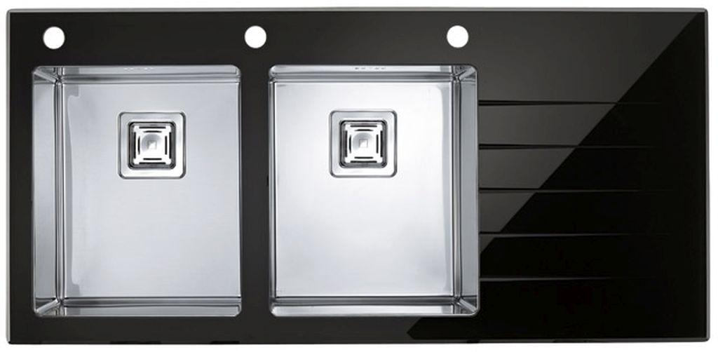 ALVEUS Crystalix 30 kuchyňský dřez,levý, černá 1070319