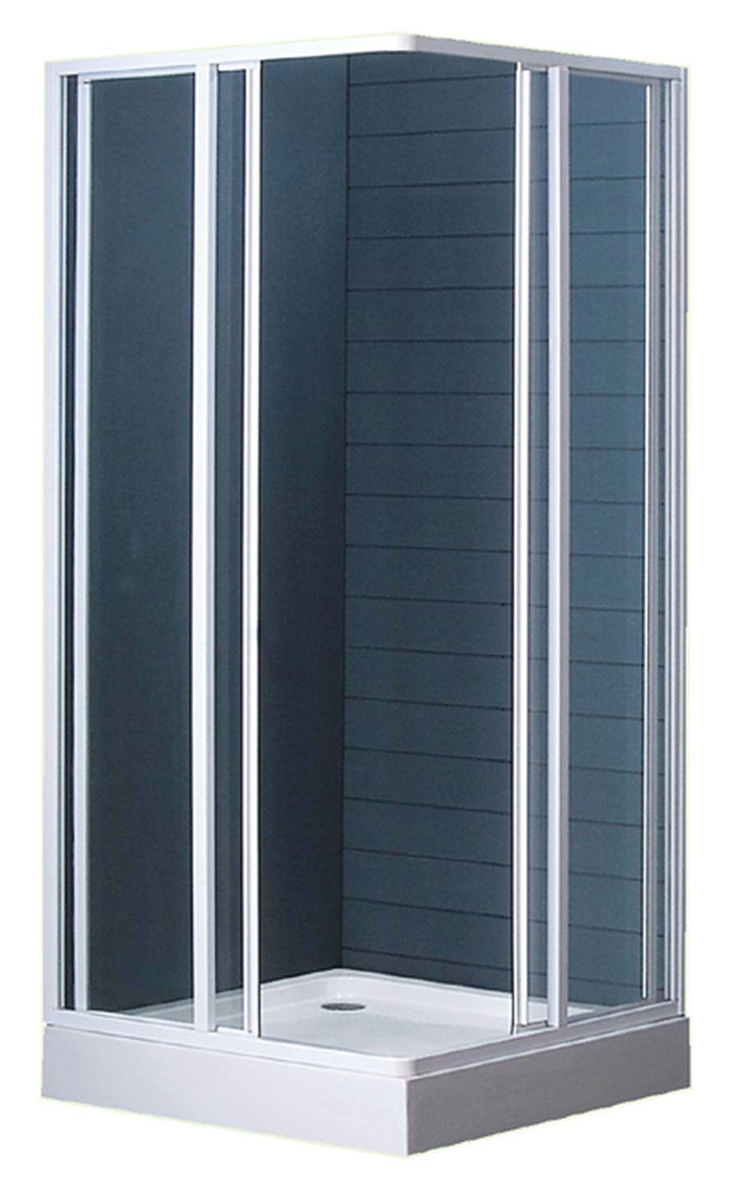 BETA 90 čiré komplet sprchový kout čtverec