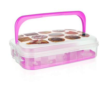 VETRO-PLUS Box na pečivo a cukr. 7 L růžový 55044996