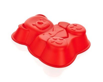 BANQUET Silikonová forma medvídek 14,2x12,3x3,5 cm CULINARIA red 3122050R