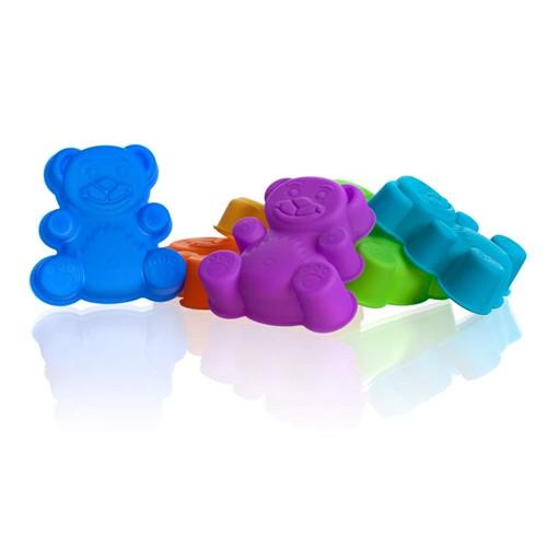 BANQUET CULINARIA Sada silikonových formiček méďa 7,5 cm 3122070MIX