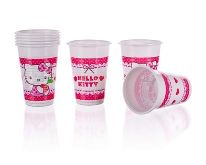 PROCOS Nápojový pohár 200 ml, 8KS Hello Kitty 4481793