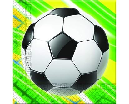 PROCOS Ubrousky 2-vrstvé 33x33 cm, 20 KS Soccer Celebration 4484051