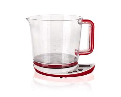 BANQUET Kuchyňská váha s odměrkou 5kg Culinaria Red 28CS0004R