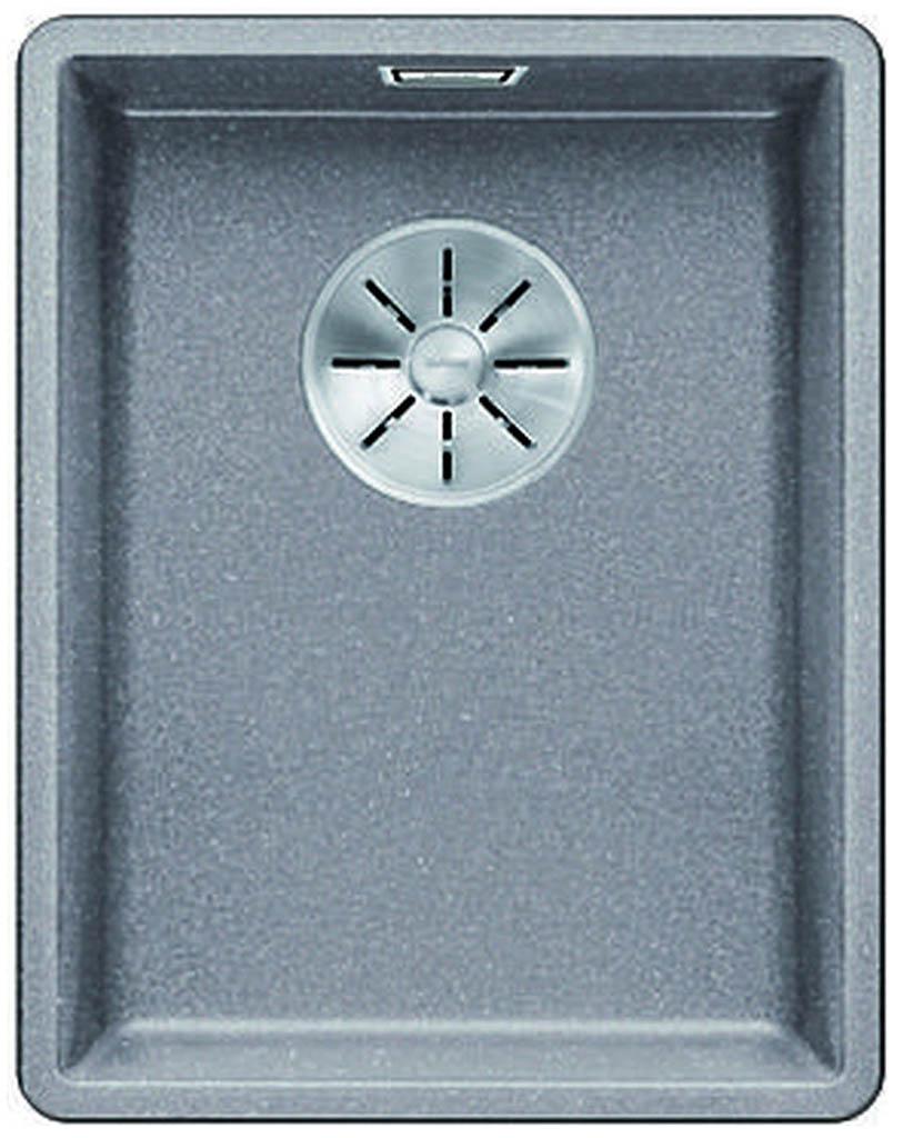 BLANCO SUBLINE 320 F InFino Silgranit aluminium 523418