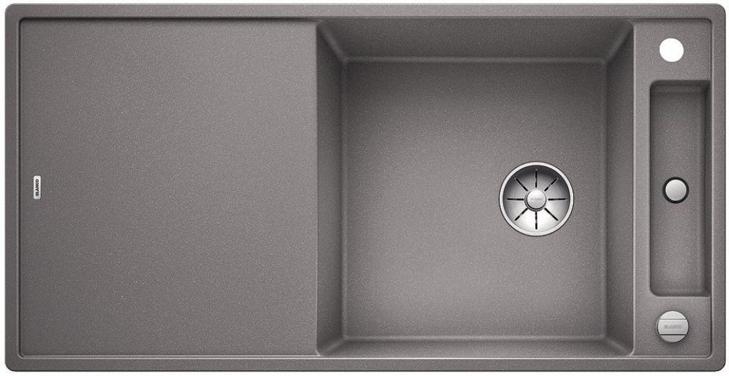 BLANCO AXIA III XL 6 S-F InFino Silgranit aluminium dřev.deska oboustranný s exc. 523522