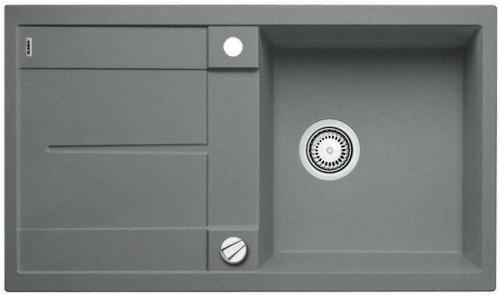 BLANCO Metra 5 S dřez Silgranit, s excentrem, aluminium 513036