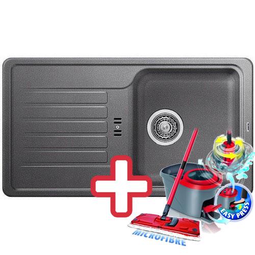 BLANCO Favos mini dřez Silgranit aluminium 518184 + ZDARMA VILEDA MOP Easy Wring
