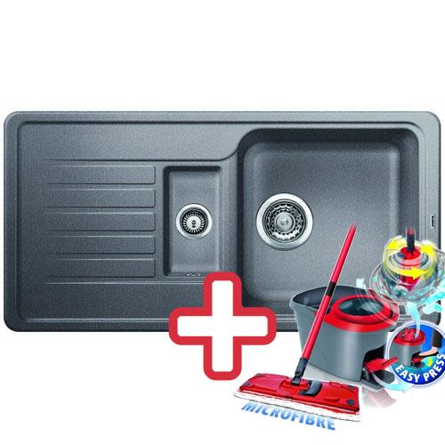 BLANCO Favos 6 S dřez Silgranit aluminium 519076 + ZDARMA VILEDA MOP Easy Wring