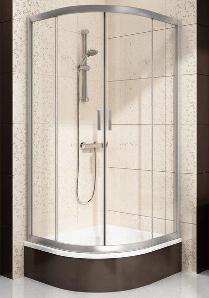 RAVAK Blix BLCP4-90 Sabina sprchový kout čtvrtkruhový, satin+Transparent 3B270U40Z1