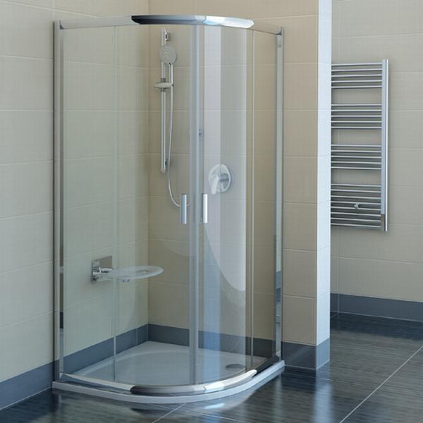 RAVAK Blix BLCP4-90 sprchový kout čtvrtkruhový, satin+transparent 3B270U00Z1